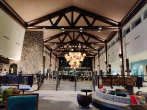 Loews Sapphire Falls Resort Universal Orlando lobby hotel