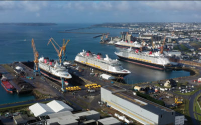 Los 4 barcos unidos por primera vez