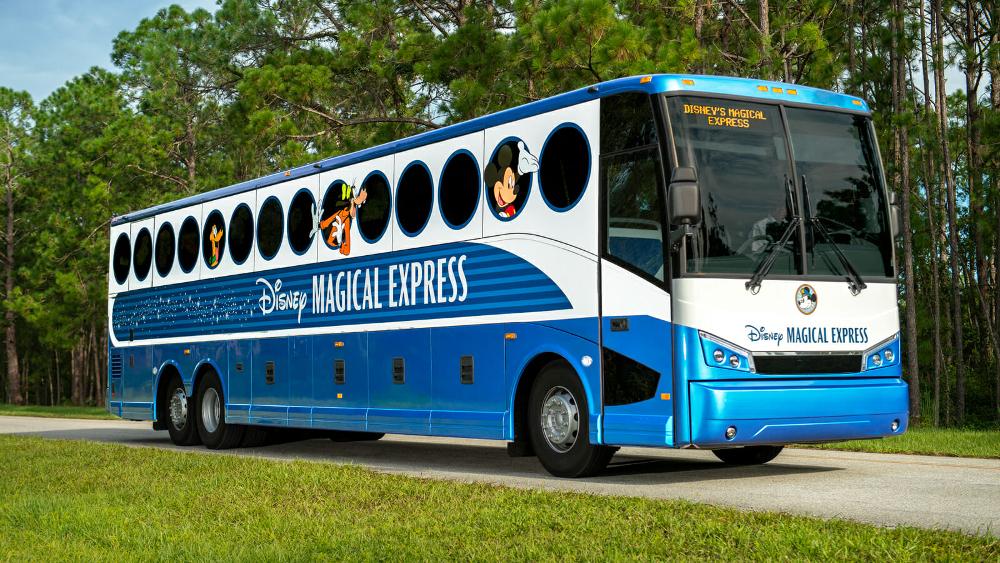 Conceptos básicos Disney Universal Disney's Magical Express Walt Disney World Orlando Florida transporte gratis gratuito aeropuerto ideas clave conceptos basicos autobus aeropuerto de Orlando