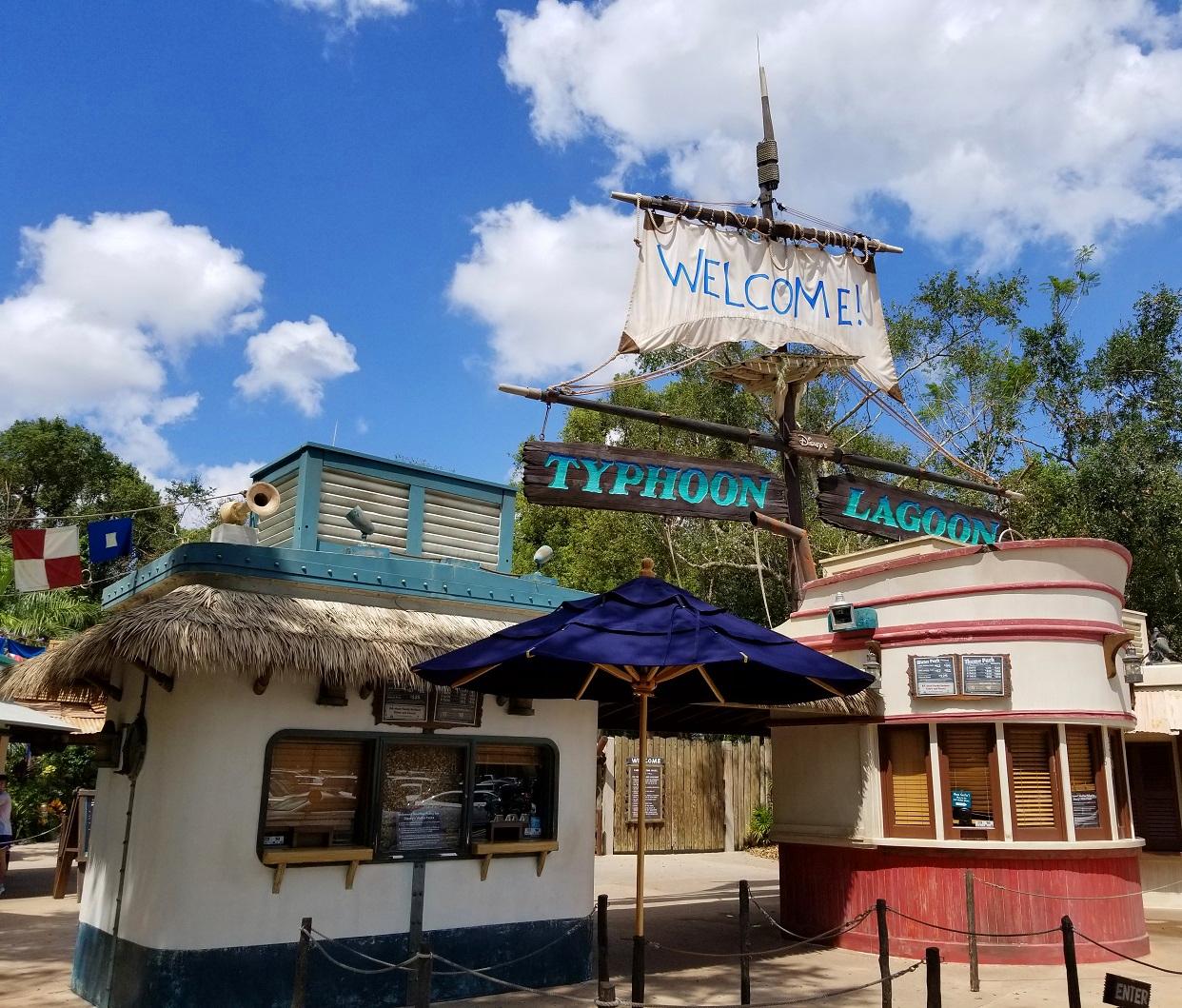 Entrada de Disney's Typhoon Lagoon en Walt Disney World
