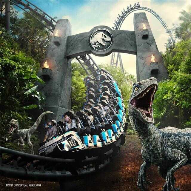Concept Art Jurassic World Velocicoaster